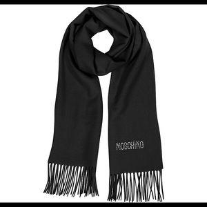 Moschino scarf rhinestone black burgundy soft shawl